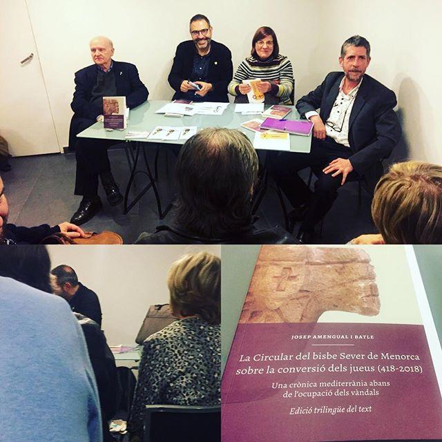 Ha estat un gusté escoltar en Josep Amengual, na Josefina Salord, en Francesc Rotger i en Manel Forcano avui a la Llibreria del Call