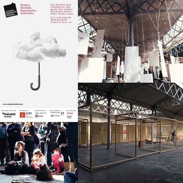 Muy pronto esto estará lleno de #poesía ¡Empezamos este viernes! #UtopiaMarkets #poesia 👉 4, 5 y 6 de mayo en #Utopia126 #Barcelona #Poblenou Poesía y poesía visual #atocar Con el apoyo de @FBSabadell