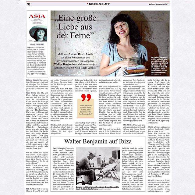 Roser Amills entrevista @mallorca.magazin por esta completa entrevista sobre mi novela y #asjalacis