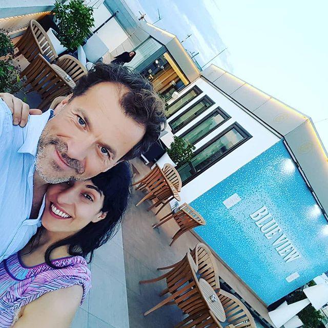 Gracias @cesarroyogascon por esta terracita del @hotelcasafuster, la mejor luz y el #jazz de los jueves abajo ;))
