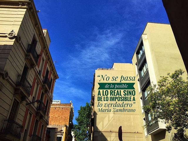 """""""No se pasa de lo posible a lo real, sino de lo imposible a lo verdadero"""" #MariaZambrano"""