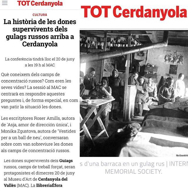 Les dones del gulag recuperen la veu al MAC Can Domènech #Cerdanyola  @llibreria_efora @Comanegra @G_Gutenberg  @monikazgustova
