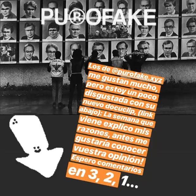 Los de @purofake.xyz tienen ideas gloriosas, pero su nuevo docuclip no me entusiasma, por cursi: por favor, miradlo y contadme qué sensación os provoca, vamos a pensar un poco juntos !!!