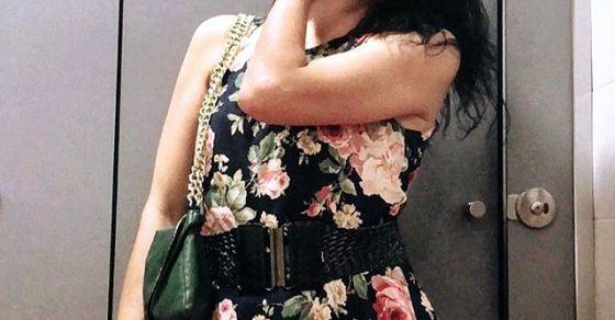 roser amills vestido de flores
