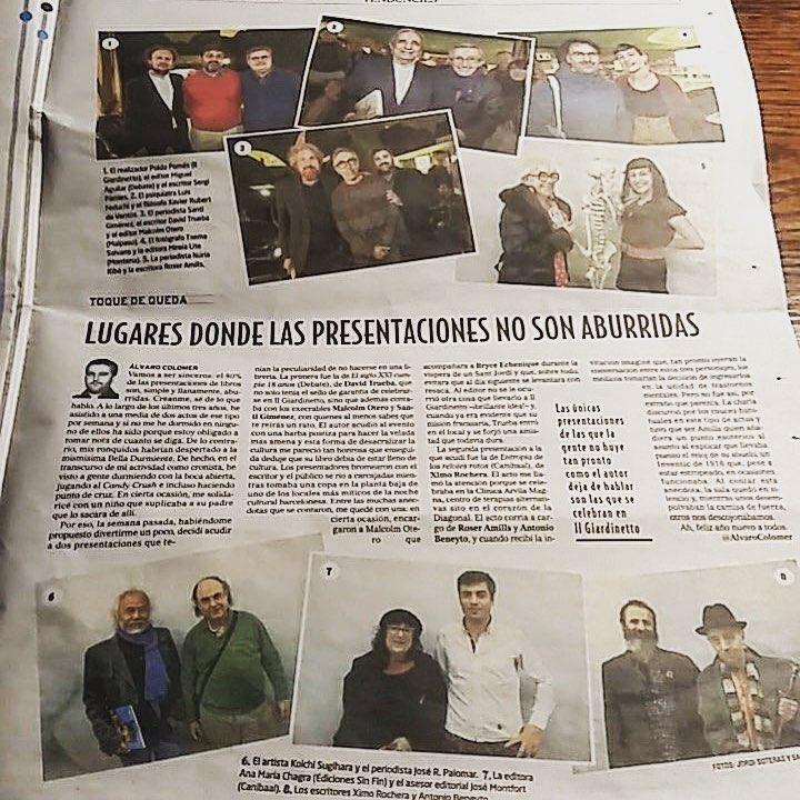 Hoy unos cuantos hemos recibido el título de #noaburridos de @alvarocolomer y estoy que salto de alegría!!