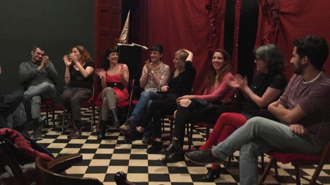 L'haureu de veure: el bon col·loqui postfunció d'#Akelarre de The Feliuettes al Maldà Teatre #ésinexplicable, GRÀCIES Glòria de La Inexplicable, Miriam Escurriola i la companyia
