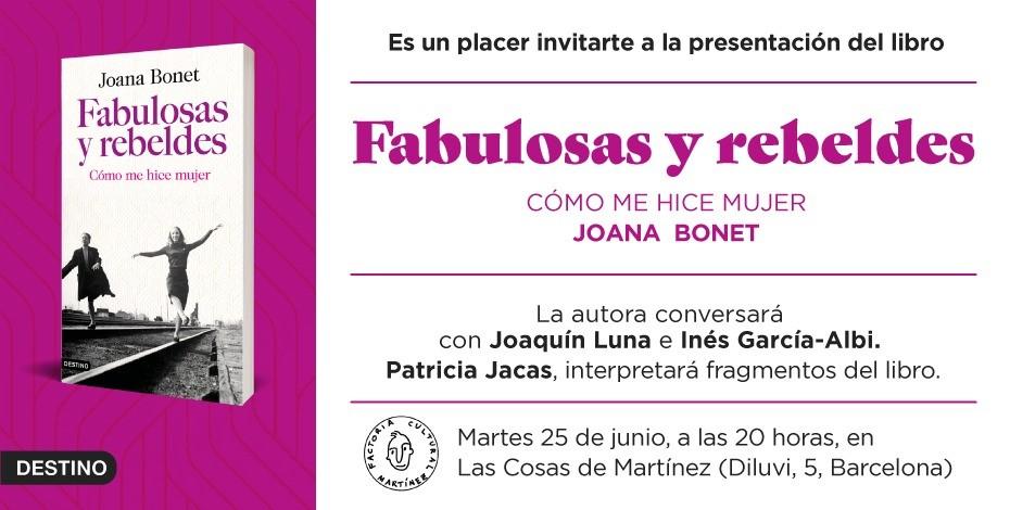 El martes 25 la periodista Joana Bonet presenta su último libro en Las cosas de Martínez.