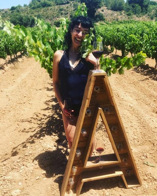 Roser Amills en la fiesta de Viñedos Singulares de junio de 2019