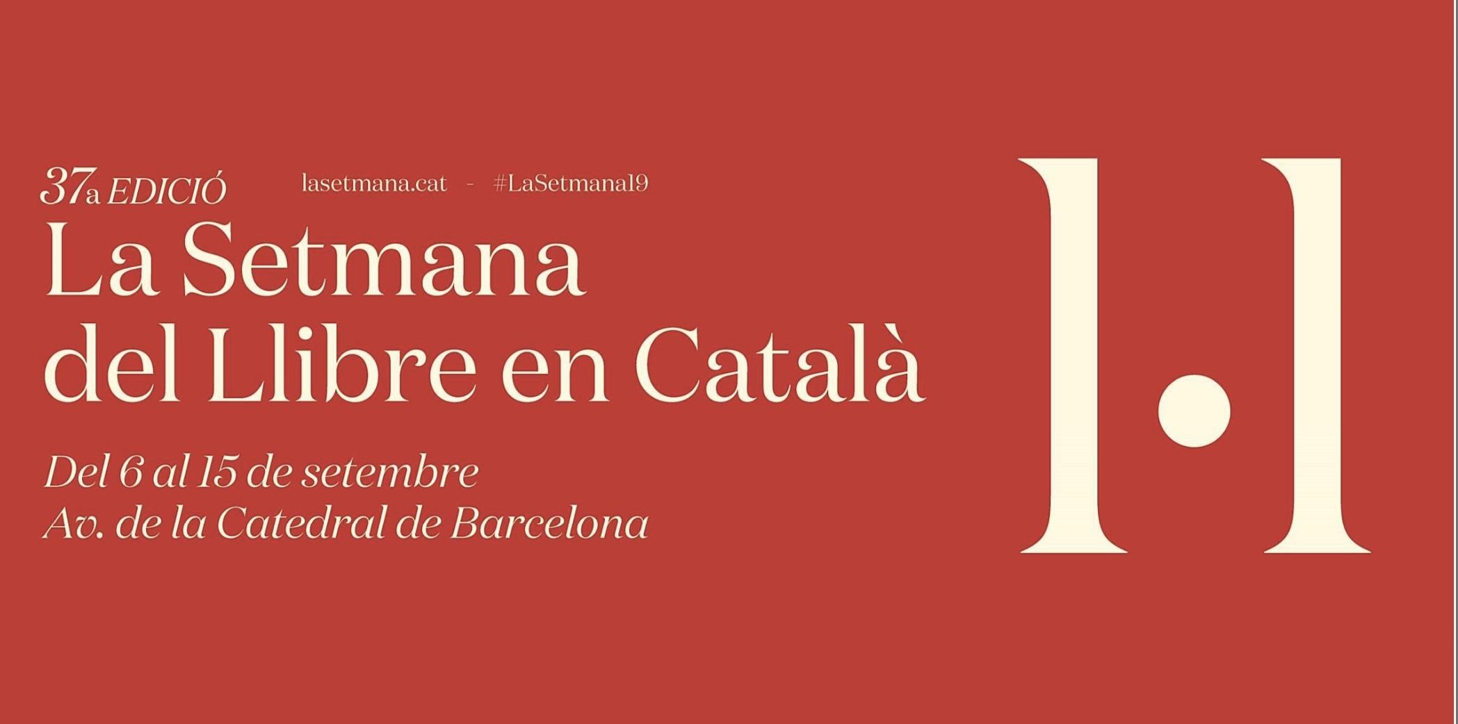 Setmana del llibre en catala 2019