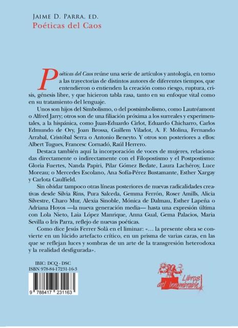 """Presentación de la antología """"Poéticas del caos"""" en la llibreria Calders"""