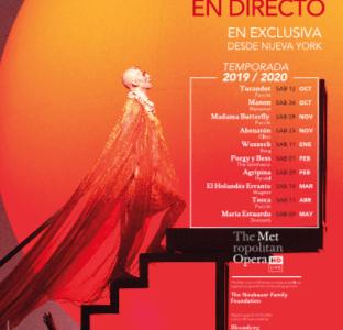 Asisto a la inauguración de la nueva temporada MET Ópera 2019 / 2020 en Yelmo Cines gracias a +Que Cine