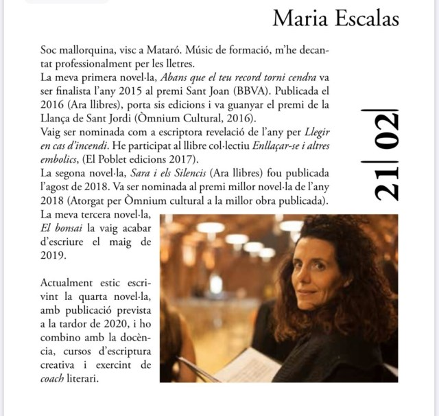 Maria Escalas a Palafolls