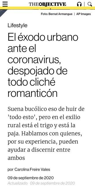 The Objective   El éxodo urbano ante el coronavirus, despojado de todo cliché romanticón