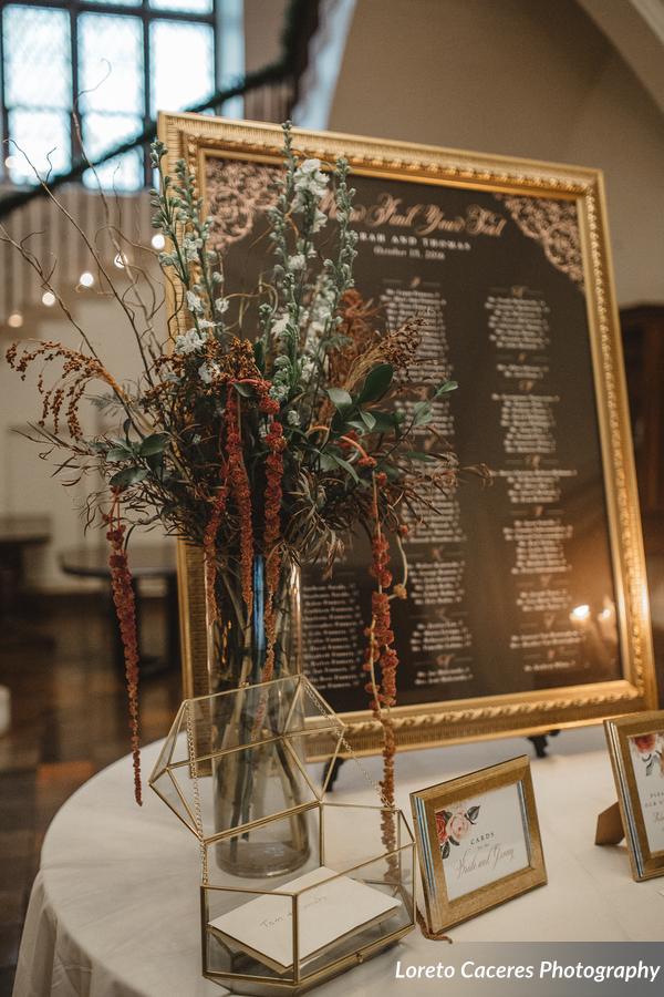 Escort Table Flowers.