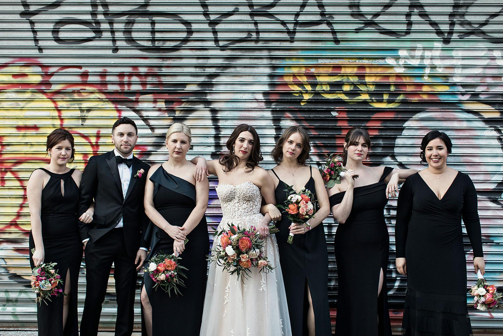 Bridal party in Williamsburg Brooklyn