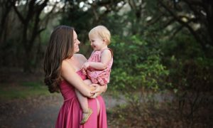 Orlando maternity photographer | maternity gown | baby girl