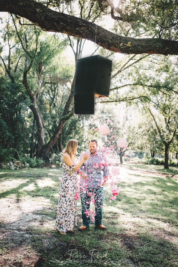 Pregnancy Announcement Photo Session - Expecting Baby Girl! - Orlando Newborn Photographer