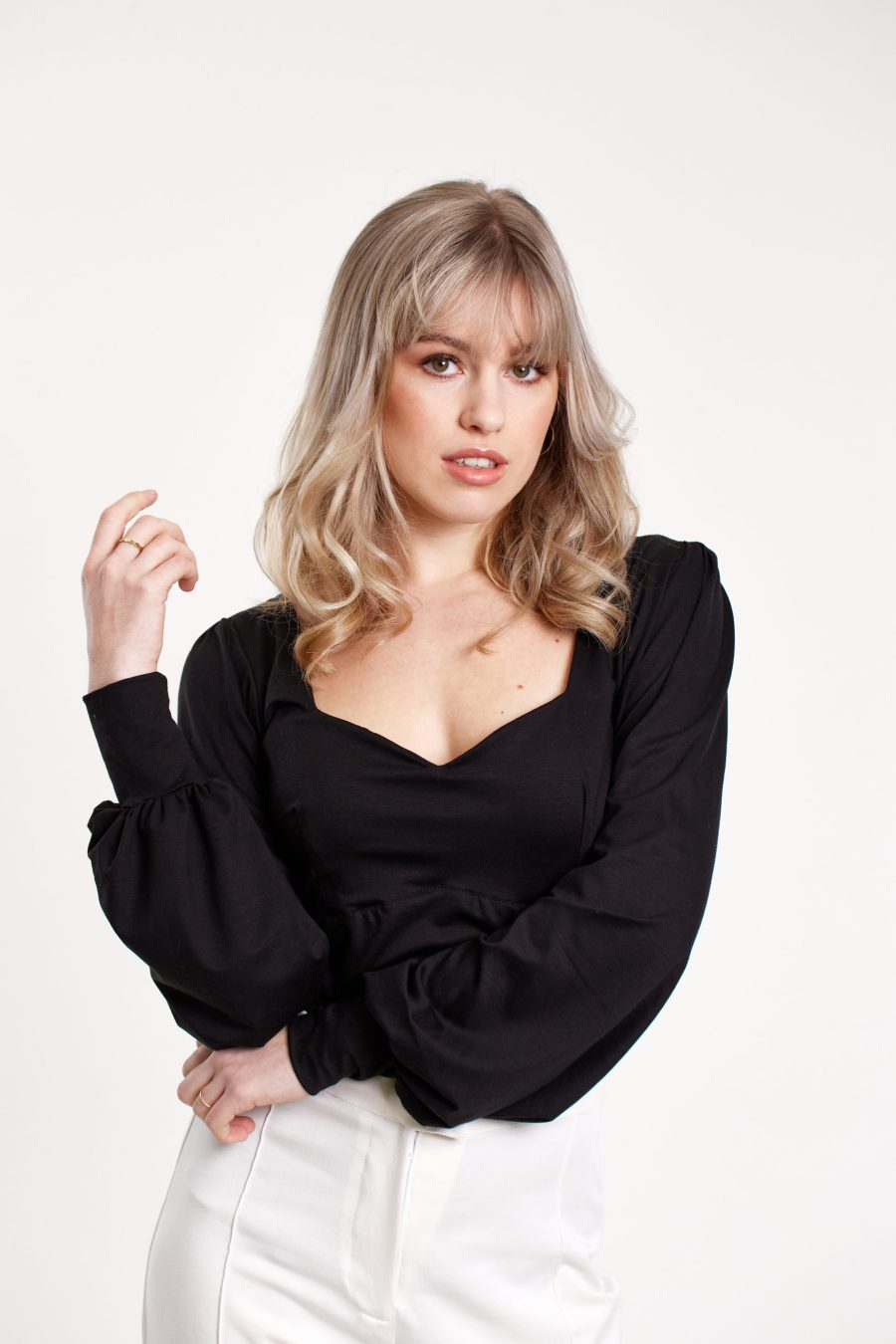 Our Day One top in the color black