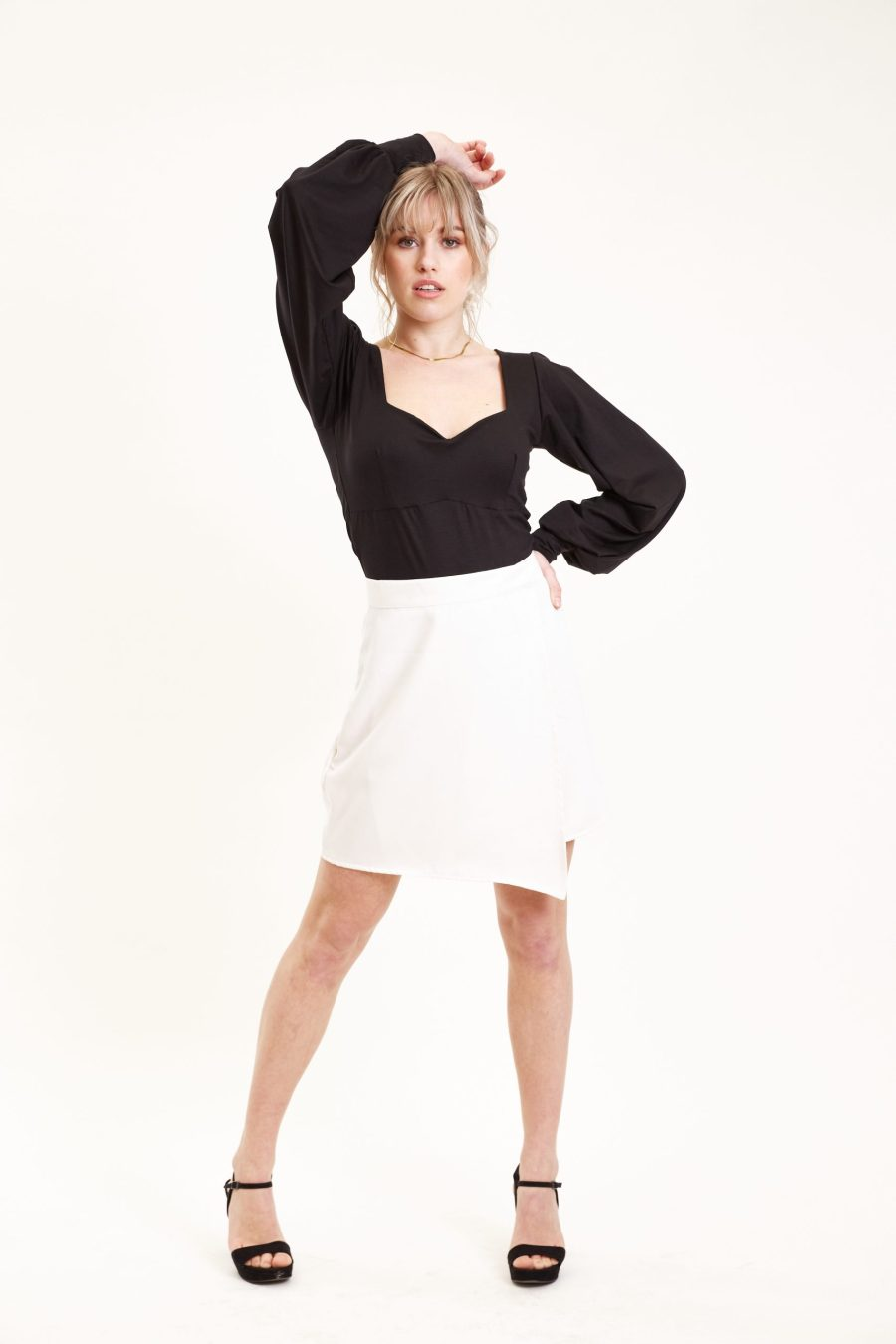 Outfit Daffodil skirt bright white