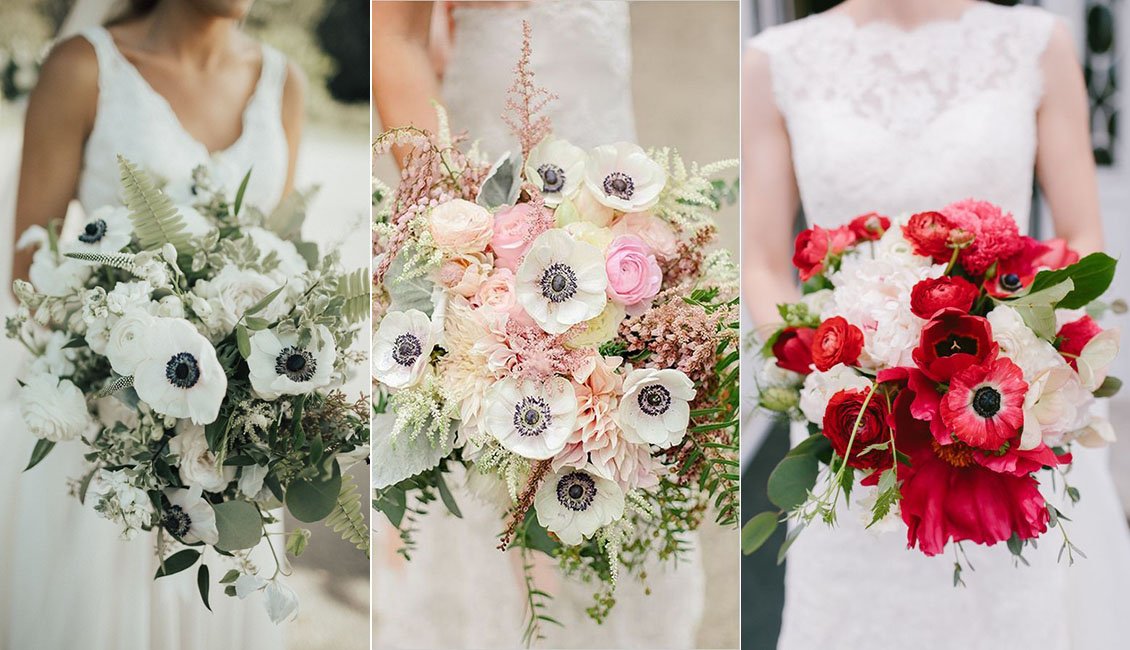 Wedding Flower Trends 2019: 20 Anemone Wedding Bouquets