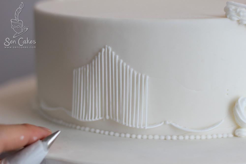 Royal Icing Practice CakeStoriesca
