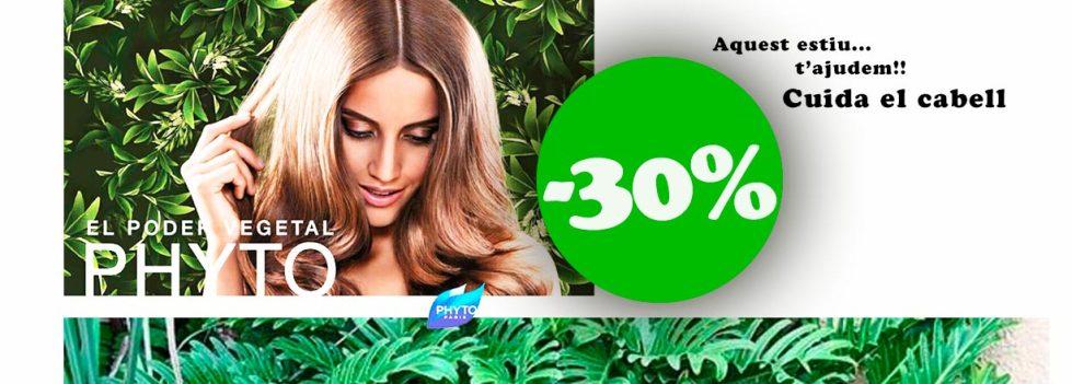 A Farmàcia Bibiana t'ajudem aquest estiu amb el teu cabell 30% de descompte en productes phyto
