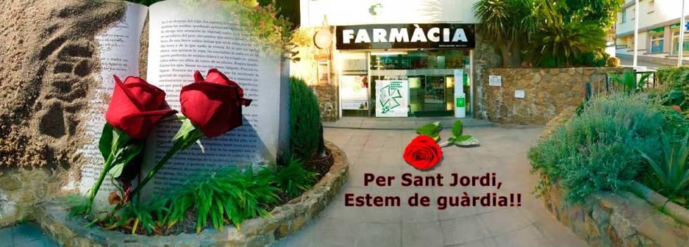Farmàcia Bibiana de Roses, Girona, estem de guàrdia per Sant Jordi