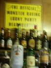 behind the bar of Neuadd Arms - proof that this is the official HQ of MRLP
