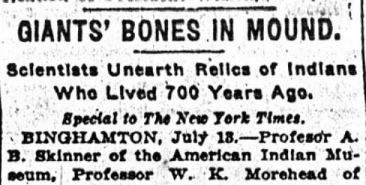 scheletro umano gigante scoperto a New York