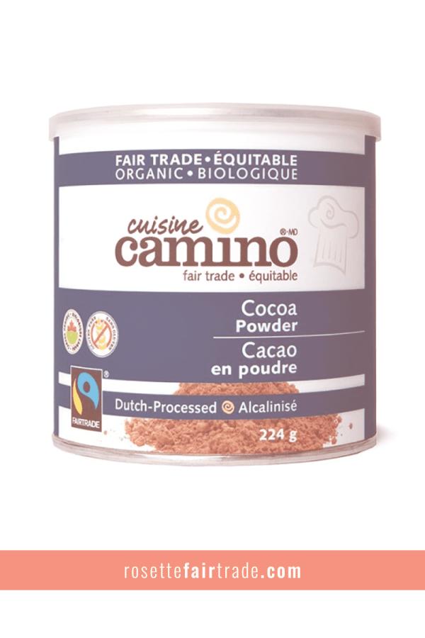Fairtrade cocoa powder (Dutch processed) by Camino on Rosette Fair Trade