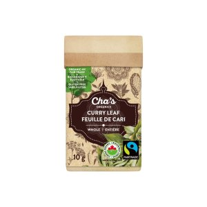 Cha's Organics curry leaf is available on the Rosette Fair Trade online store