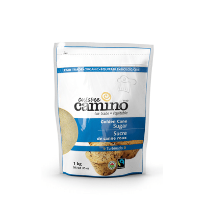Fairtrade golden cane sugar (turbinado) by Camino available on Rosette Fair Trade's online store