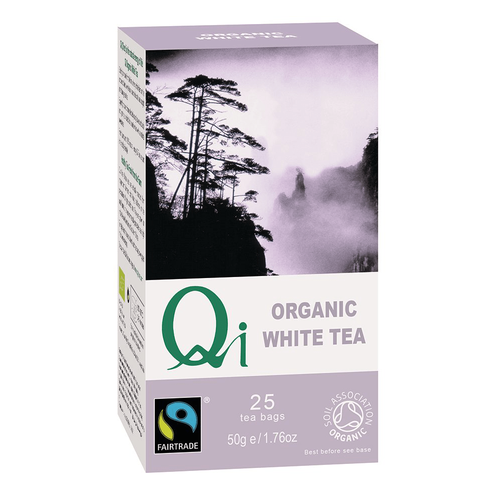 Fairtrade white tea (organic) by Qi Teas available at Rosette Fair Trade's online store