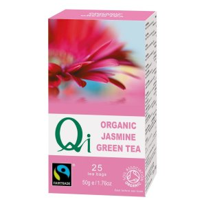 Qi Fairtrade jasmine green tea (organic) on Rosette Fair Trade's online store