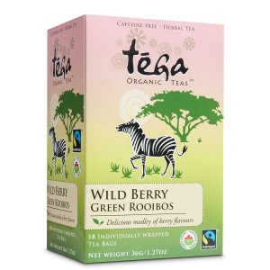 Fairtrade green rooibos wild berry by Tega Organic Tea on Rosette Fair Trade online store