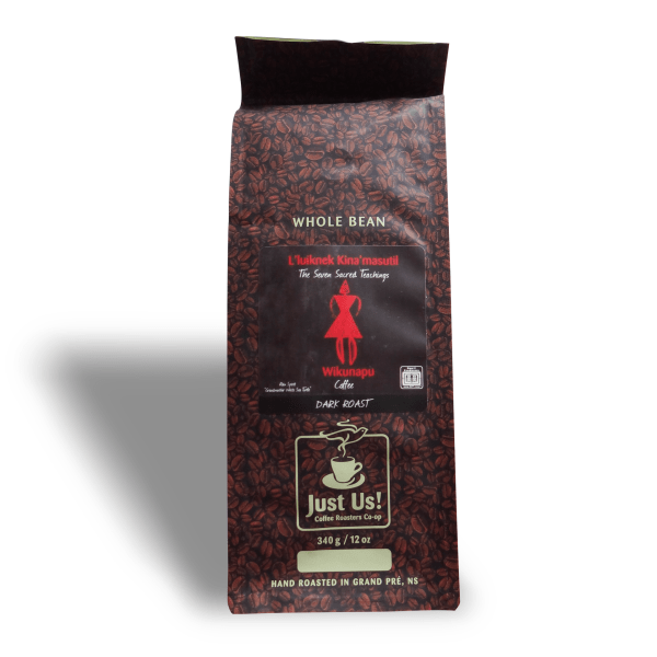 Just Us! Seven Sacred Teachings coffee, available on Rosette Fair Trade online store