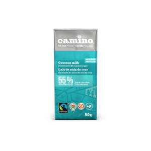 Camino coconut milk chocolate bar (80g) on Rosette Fair Trade