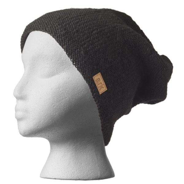 Fair trade slouchy hat (Parkdale) by Ark Imports in black colour on Rosette Fair Trade