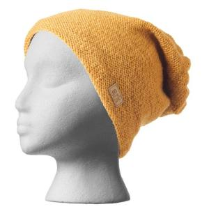 Fair trade slouchy hat (Parkdale) by Ark Imports in honey colour on Rosette Fair Trade