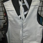 Platinum Leonardo vest and tie