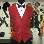 Apple red vest in every pattern