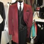 Burgundy Tuxedo coat