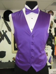 Purple vest and bow tie