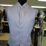 vest and long tie