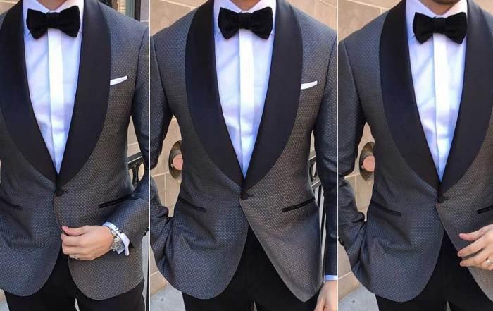 Celebrity grey tuxedo