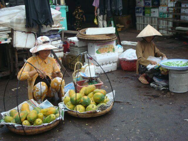 Vendedoras ambulantes Vietnam