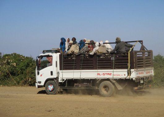 Transporte en Simien. Etiopía.