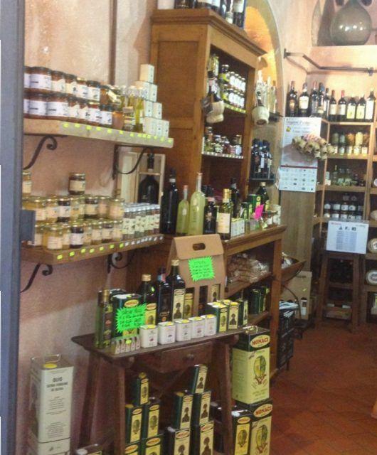 Tienda de aceites en Pienza.