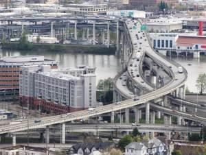 Bridges in Portland.