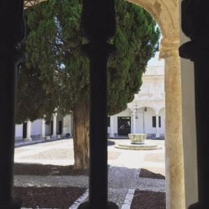 Patio de la universidad de Alcalá de Henares.